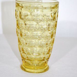 Vintage Gold Glass Water Goblet Thumb Print